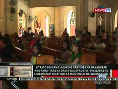 OC: Litrato ng lalaking nagsimba na nakahubad ang pang-itaaas sa Davao, pinalabas ng simbahan