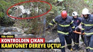 Altınordu'da Trafik Kazası! Kontrolden Çıkan Kamyonet Dereye Uçtu: 5 Yaralı