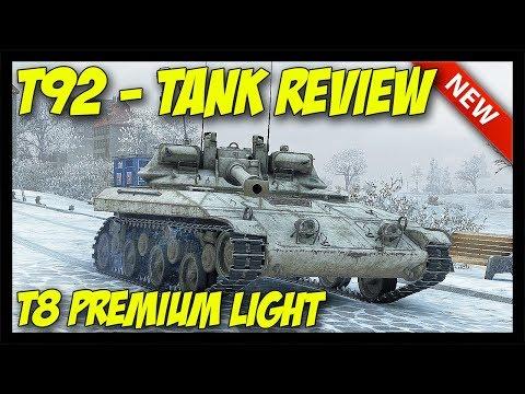 ► T92 - Tier 8 American Light Tank Review - World of Tanks T92 Light Tank Gameplay