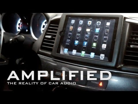 iPad mini installed in Lancer GTS, modded EVO Dash, Mitsubishi - Amplified #90