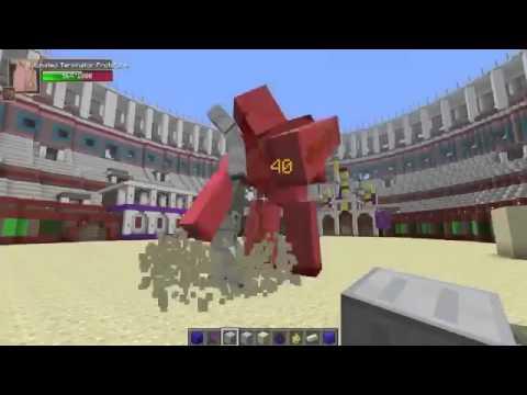 mega golem vs obsidian minecraft batallas de mobs mods
