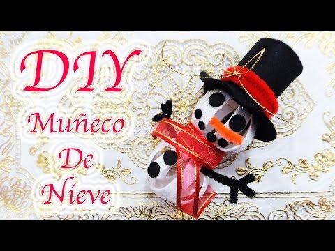 MUÑECO DE NIEVE / SNOWMAN | MANUALIDADES NAVIDEÑAS | RECICLAJE | DIY - YuureYCrafts
