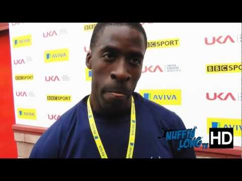 Aviva 2012 Trials - Dwain Chambers 100m Six times National Champion (HD) - NuffinLongTV
