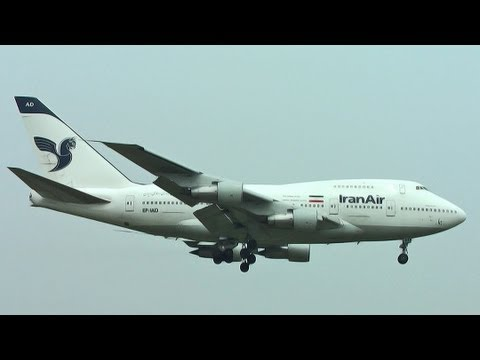 EP-IAD Iran Air Boeing 747SP-86 landing at Narita Airport 成田空港