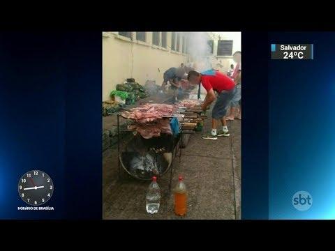 Vídeos mostram presos fazendo churrasco em cadeia do RS | SBT Notícias (31/01/18)