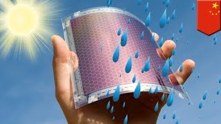 Future green technology: new solar panels could generate electricity from raindrops - TomoNews