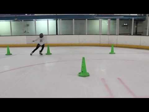 Ice Hockey Power Skating Speed Agility and Balance Drill - Pivot, Crossovers, Mohawk and Tight Turns