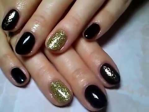 Manicure hybrydowy, zdobienie biżu, paint gel Indigo - YouTube