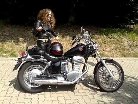 my daughter riding a suzuki ls 650 savage youtube. Black Bedroom Furniture Sets. Home Design Ideas