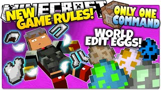 Minecraft | NEW COMMANDS | WORLD EDIT EGGS! | Only One Command (One Command Creation)