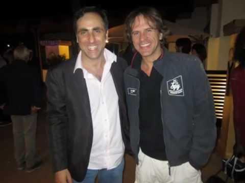 Antonello De Pierro e Max Parodi a party per Yoga Vip Tennis Vintage