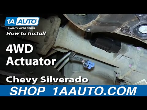 How To Install Replace Front Axle Actuator 2007-2013 Chevy Silverado GMC Sierra