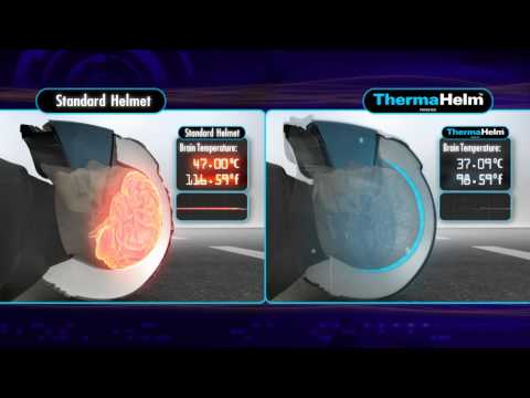 ThermaHelm Vs Standard crash helmet  Technology by Jullian Preston-Powers