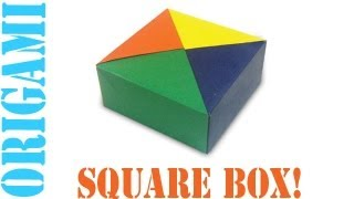 Origami Daily - 028: Basic Square Box With Lid (modular) - Tcgames [hd]