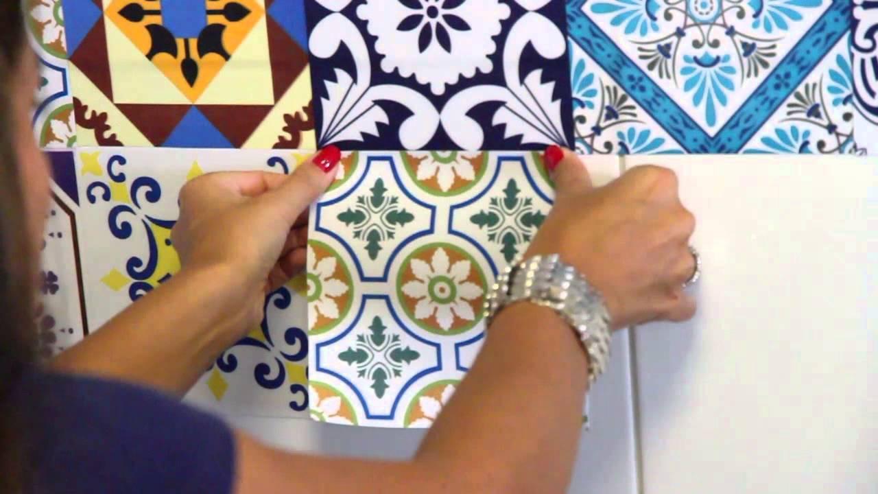 Adesivo De Onça ~ Renove sua casa com Flok Tecido Adesivo Cozinha YouTube