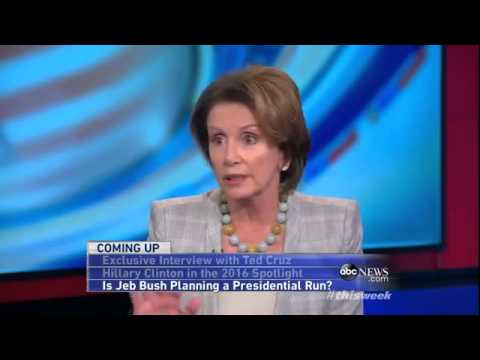 `This Week`: Nancy Pelosi Interview - House Democratic Leader on Washington`s Budget Battle