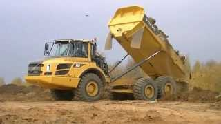 Volvo A30F and A30D ADT`s unloading