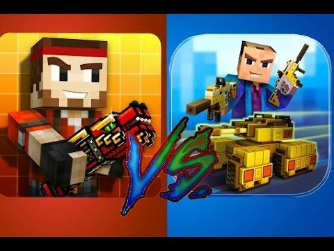 Block City Wars (6.4) vs. Pixel Gun 3D (11.4.1)