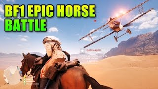 Battlefield 1 Epic Horse Battle | BF1 Beta Cavalry Gameplay