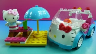 """Lego Hello Kitty"" Lắp Ghép Xe Hơi Cho Mèo Kitty""- Mega Blocks ""Hello Kitty Surfing"""
