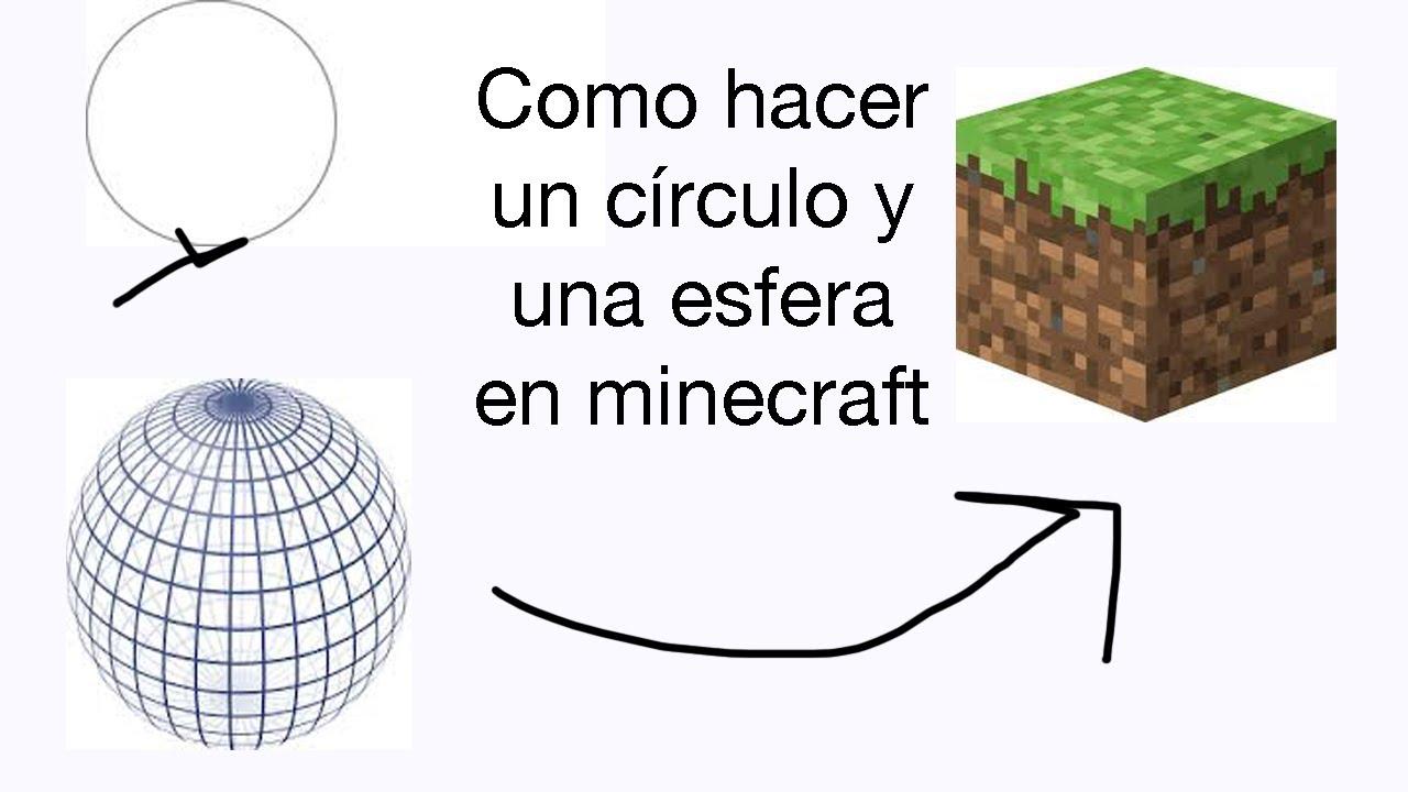Como hacer un c rculo y una esfera en minecraft youtube - Como construir un tejado ...