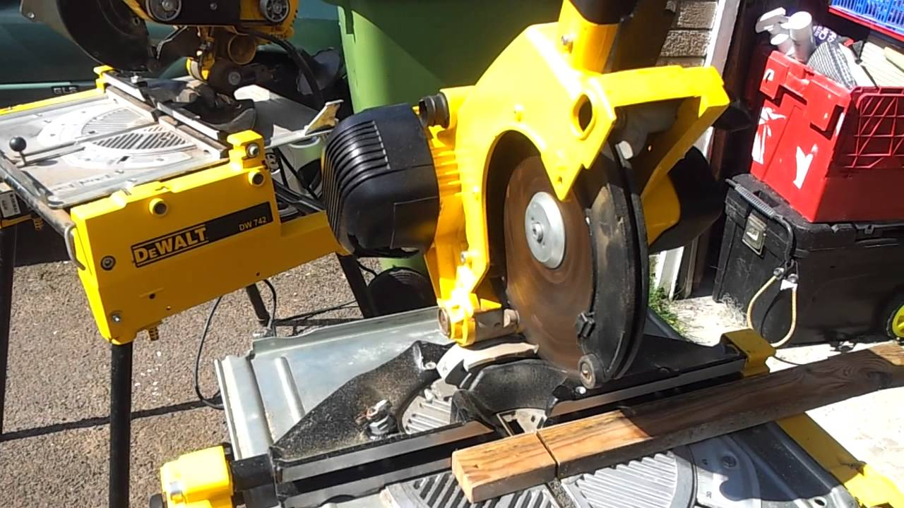 dewalt flip saw chop saw table saw 110v for sale youtube