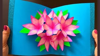 3D Pop-Up Flower Card Tutorial - Mother's Day Gift