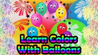 Learn Colors With Balloons For Children | Yellow, White, Blue, Green & Pink Colorful Flower Balloons