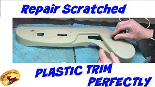 How To Repair Scratched & Gouged Interior Trim & Match TEXTURE Perfectly!