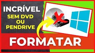 Como Formatar o PC e instalar o Windows 7 Sem DVD ou Pendrive ( Sem Perder Arquivos e Drivers )