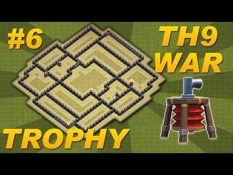 Clash of clans th9 war base best town hall 9 trophy war base anti hog