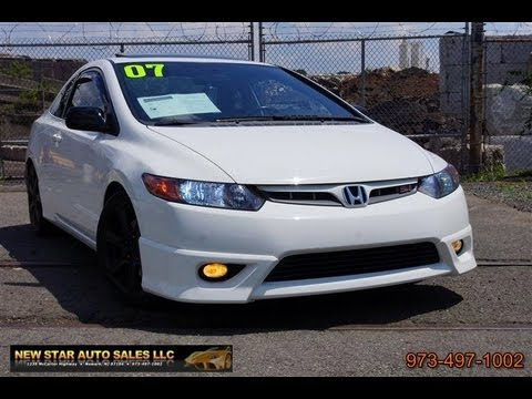 2007 Honda Civic Si I VTEC 20 DOHC Coupe Nav Manual
