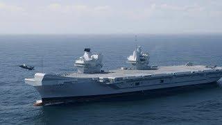 HMS QUEEN ELIZABETH Launches F-35 LIGHTNING II's