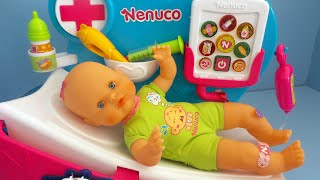 Baby Doll Doctor Why is Nenuco crying Toy Video Unboxing and Playing