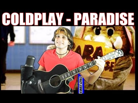 Coldplay - Paradise - GUITAR PERCUSSION COVER