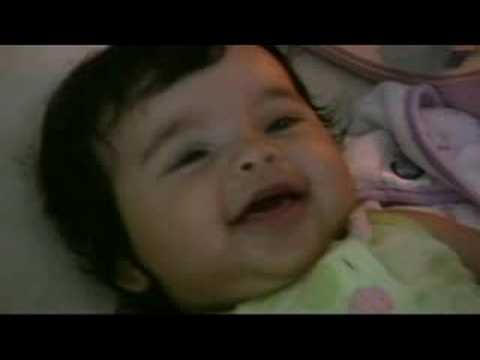 Cute baby Sophia laughing