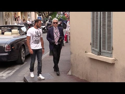 Karl Lagerfeld in Saint Tropez