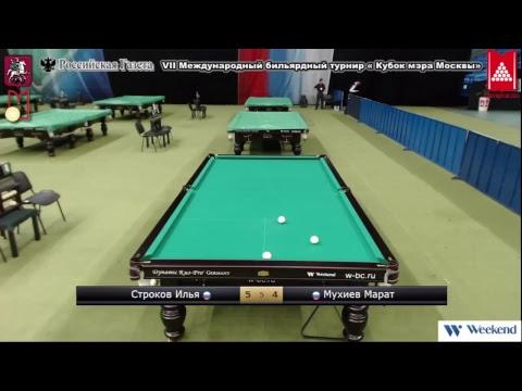 Турниры: VII Международный бильярдный турнир « Кубок мэра Москвы» TV 6