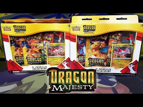 Opening Dragon Majesty Latias Pin Collection Boxes!