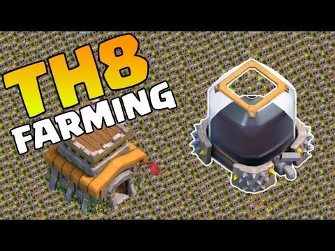 Clash of Clans TH8 Farming Base ANTI EVERYTHING! CoC BEST Town Hall 8 Farming Defense Strategy 2015