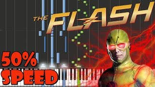 The Flash - Reverse-Flash Theme Piano Tutorial [50% Speed]
