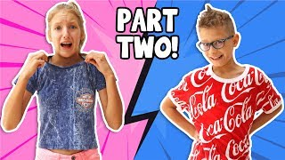 Switching Clothes with my Brother!!!!  part 2