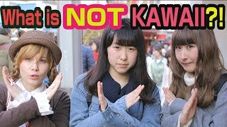 What is NOT KAWAII? Asking Japanese girls and boys what is not cute in their opinion.