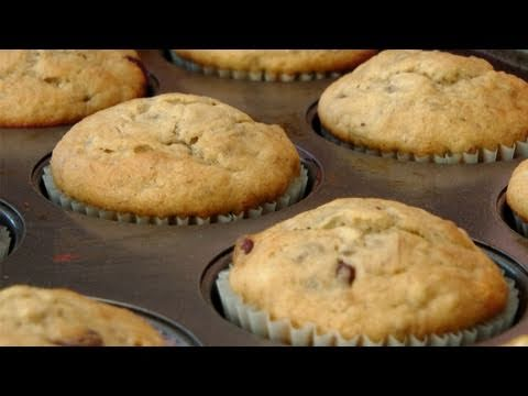 Banana and Chocolate Chip Muffin Recipe - by Laura Vitale - Laura in the Kitchen Ep 131