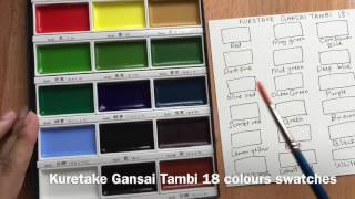 Kuretake Gansai Tambi 18s colour swatch