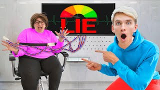 LIE DETECTOR TEST on MYSTERY NEIGHBOR!! (True Identity Reveal)