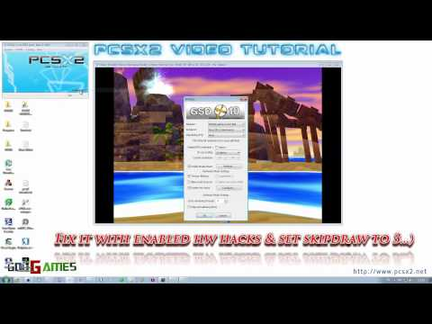 pcsx2 video tutorial - how to remove 2D artifacts ingame