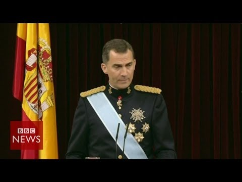 Spains' King Felipe VI:'I know the responsibility that this duty entails - BBC News