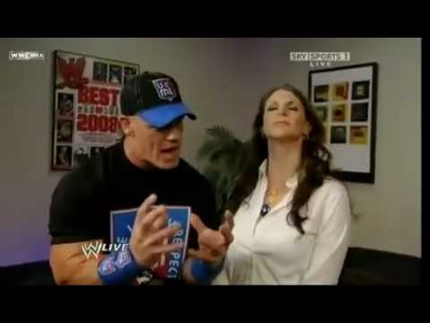 WWERaw-John Cena & Stephanie McMahon Backstage HD thumbnail