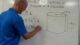Finding the Volume of a Cylinder